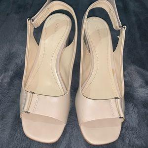 Calvin Klein Nude Block Heels
